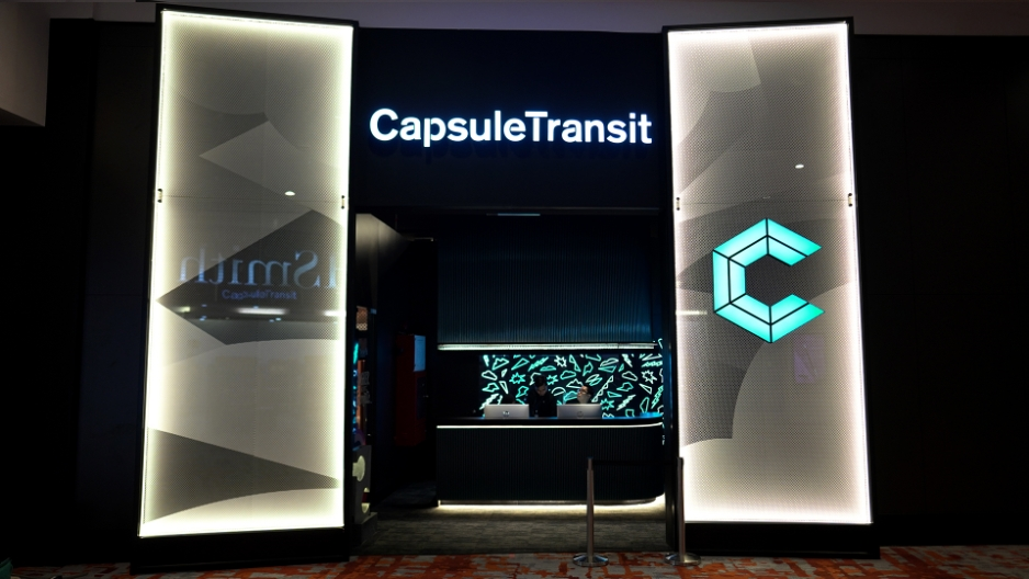 The entrance and reception counter of CapsuleTransit Airside at klia2.