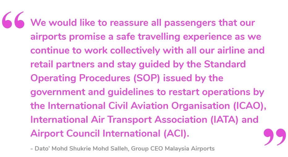 Malaysia Airports Group CEO Dato Shukrie Salleh