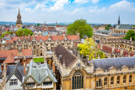 Cityscape of Oxford city