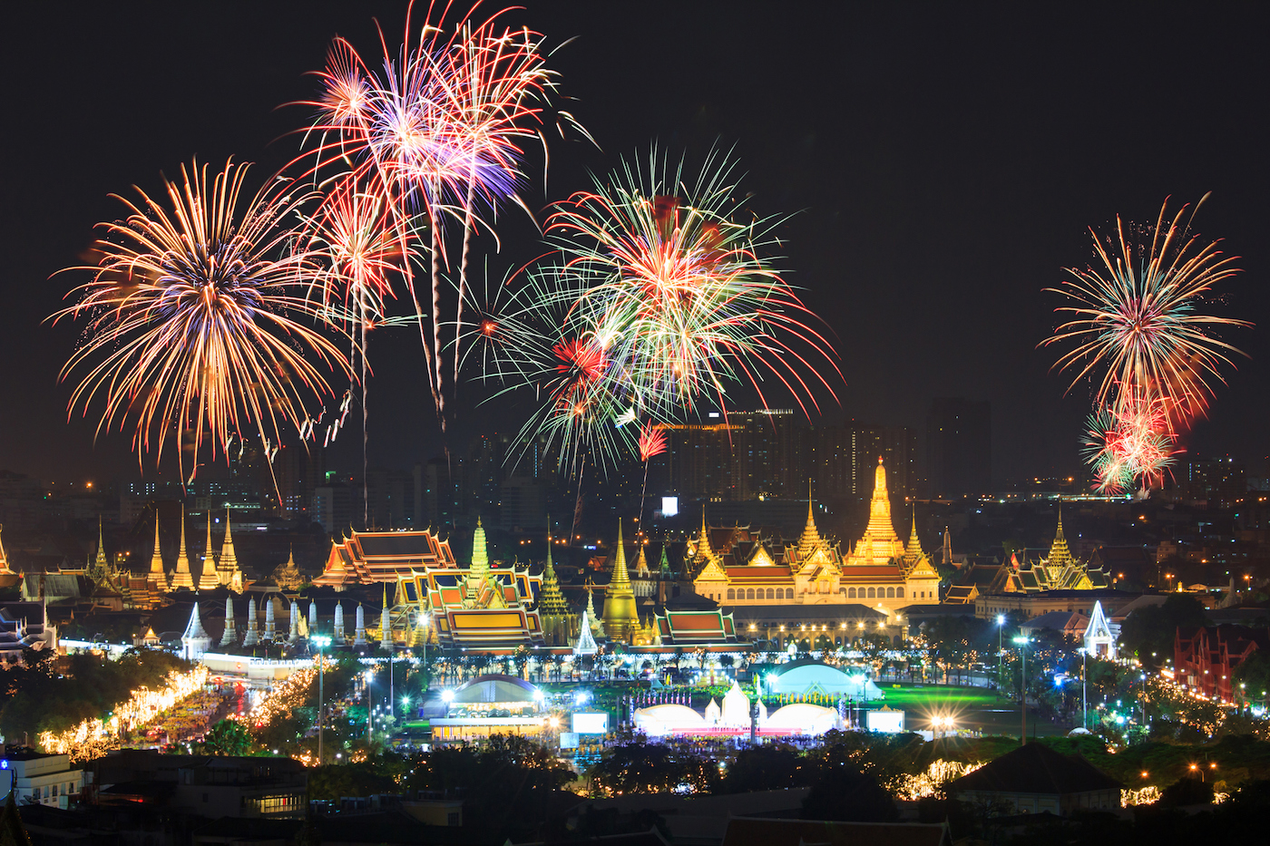 Firework frenzy in Bangkok