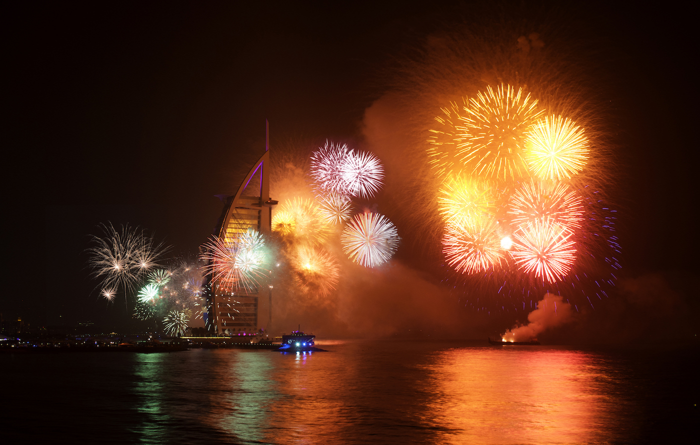 Celebrations at Jumeira Beach, Dubai