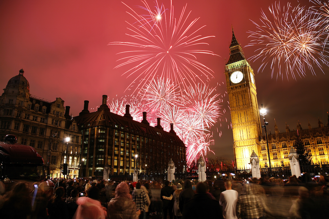 Crowds mesmerised by spectacular fireworks in London