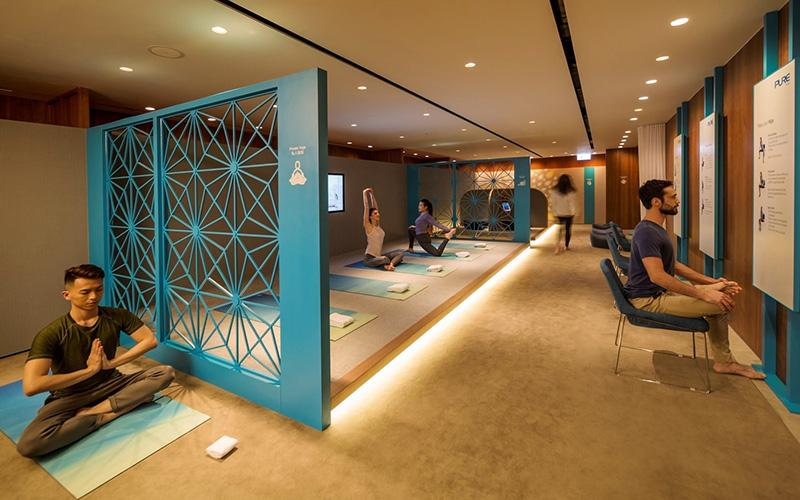 Stretch, Relax & Rejuvenate: Cathay Pacific opens The Sanctuary by Pure Yoga at The Pier Business Class lounge