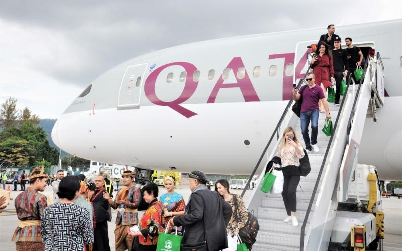 Qatar Airways makes inaugural touchdown in Langkawi